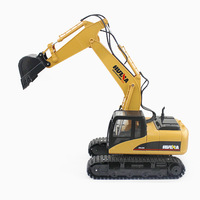 HuiNa Toys 1350 15 Channel 2.4G 1/12 RC Excavator Charging 1:12 RC Car With Battery RTG 5