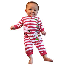 MUQGEW Baby Clothing 2018 New Newborn jumpsuits Baby Boy Girl Romper Clothes Long Sleeve Infant Romper+Hat Outfit #8-9(China)