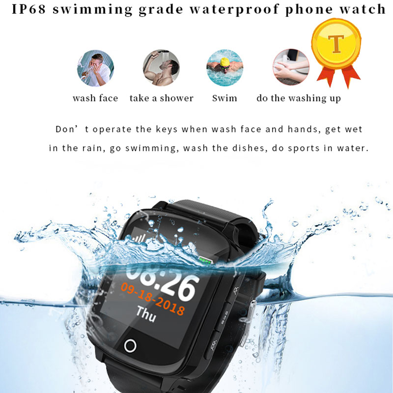 kids watch wifi positioning ip68 smartwatch GPS Bracelet Smart GPS Elderly Watch With Heart Rate SOS