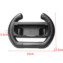 For Nintendo Switch Joy-con Controller Steering Wheel Case Black ABS for Nintendo Switch Racing Games Truer Driving Experience
