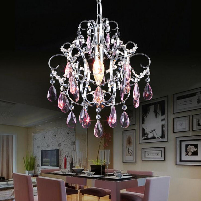 Modern restaurant crystal lamp simple living room chandeliers LED lighting fixture bedrom led lamps home chandelier crystal lamp wrought iron chandelier island country vintage style chandeliers flush mount painting lighting fixture lamp empress chandeliers