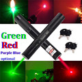 50MW Adjustable Focus Burning Match RED Violet Purple Blue Green Beam Laser Pen 301 Pointer Pen Flashlight with Safe Key Lock