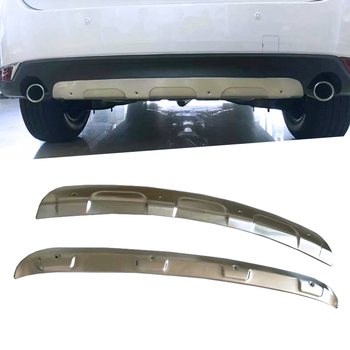 Car Protection Bumper Stainless Steel Trim Front Head/Rear Hoods Bottom Moulding Hoods Part For Mazda CX-5 CX5 2017 2018