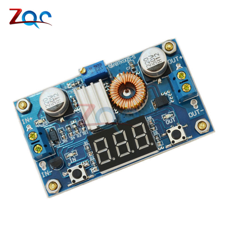 все цены на 5A 75W DC-DC Adjustable Step-down Charge Module Step Down Modules LED Driver with Red Voltmeter онлайн