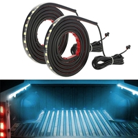 SITAILE 2Pcs 60 RGB LED Truck Lights Car Strip Lamp Lighting Kit Waterproof Car Interior Lighting
