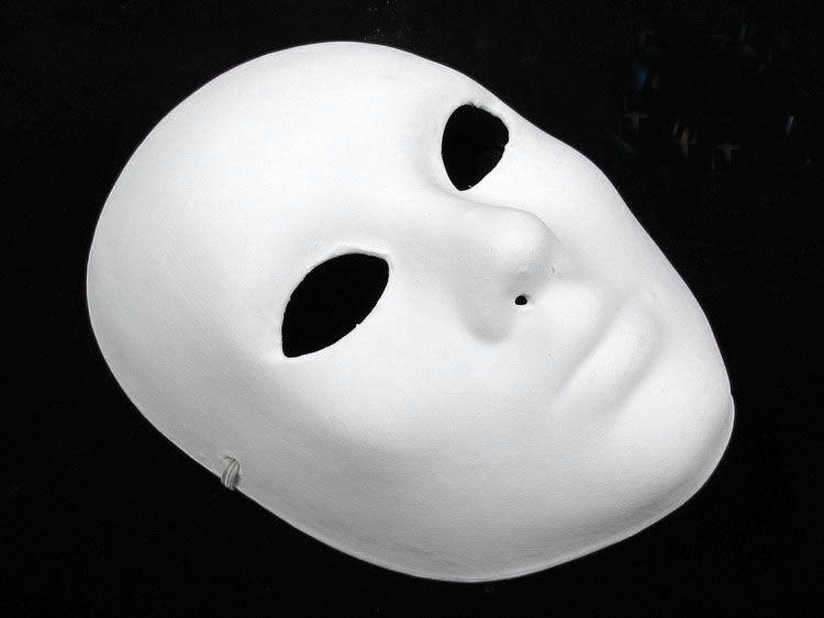 Plain White Masks To Decorate Hand Painting DIY Plain White Masks Women Men Thicken Paper Pulp 2