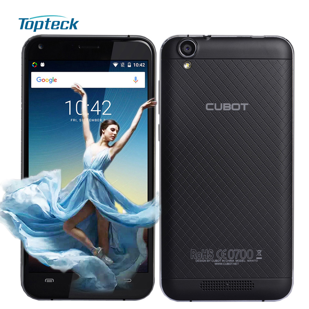 """Цена за Cubot manito 4 г 5.0 """"720*1280 смартфон android 6.0 mtk6737 1.3 ГГц quad core мобильного телефона 3 ГБ + 16 ГБ 13mp 2350 мАч otg мобильный телефон"""