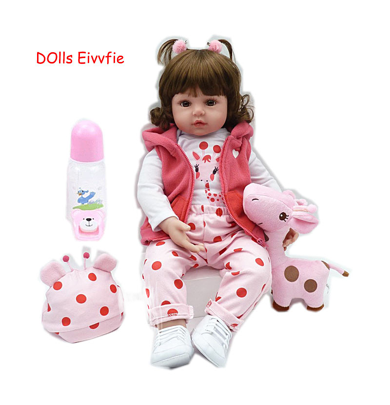 19inch 48cm lifelike bebe reborn doll baby reborn newborn wholesale toys for children Christmas gift and
