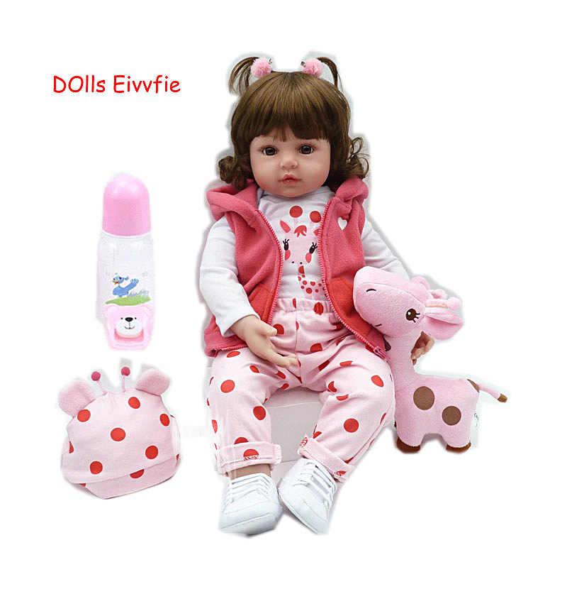 Polegada 48 19 centímetros bebe renascer boneca lifelike renascer bebê recém-nascidos por atacado brinquedos para crianças presente de Natal e presente de aniversário lol boneca