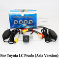 For Toyota Land Cruiser Prado (Asia Version No Spare Wheel On Door) / RCA Wire Or Wireless HD Night Vision Rear View Camera