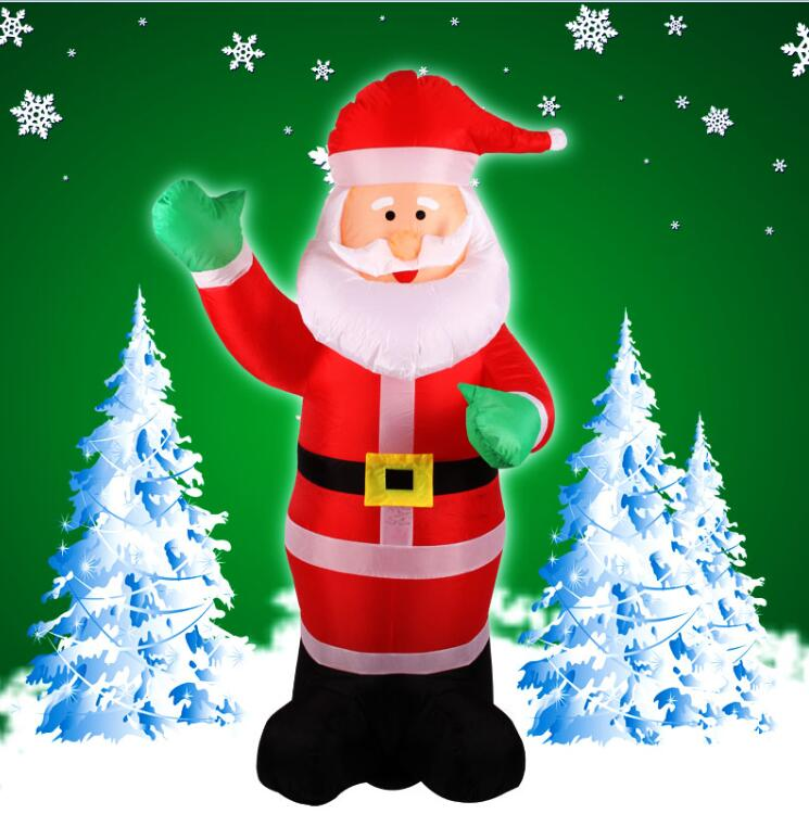 2017 Vioslite 1.8M Traditional Style Inflatable Christmas Santa Green Hand in High Quality for Festival Decoration inflatable cartoon customized advertising giant christmas inflatable santa claus for christmas outdoor decoration