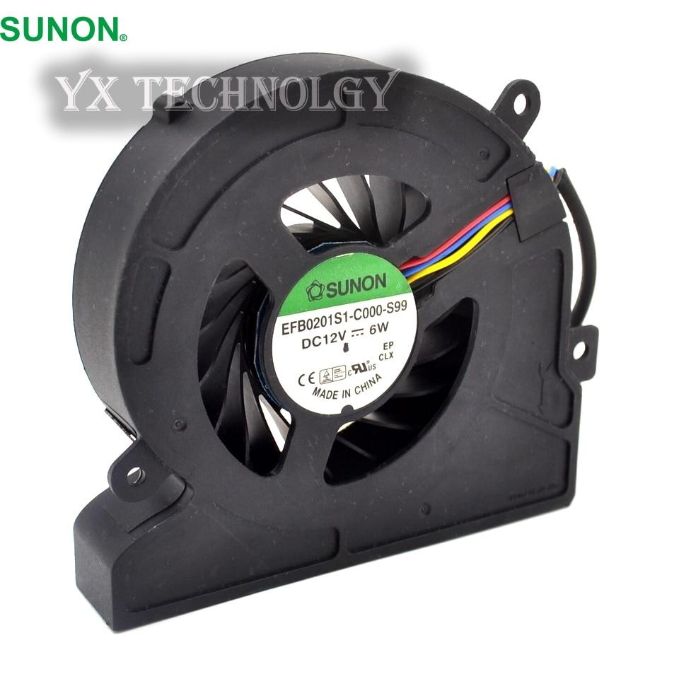 SUNON EFB0201S1-C000-S99 DC12V 6W notebook fan cooling fan Free Shipping new original sunon eg50060s1 c000 s99 lxo0791002 dc5v 1 15w cooling fan