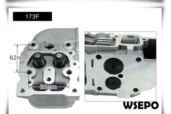 OEM Quality! Cylinder Head Assy with Valves and Springs for 173F 5HP 4 Stroke Single Cylinder Air Cooled Diesel Engine