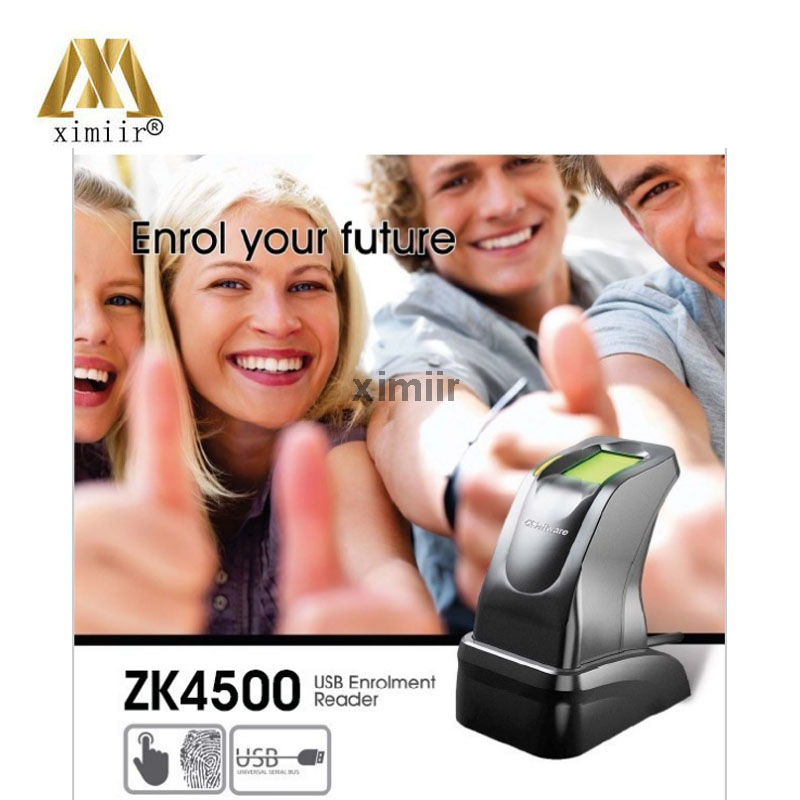 Biometric finger sensor fingerprint reader USB communication 500 dpi for PC & software access control time attendance scanner good quality tcp ip communication free software zk multibio700 facial time attendance and access control with fingerprint reader