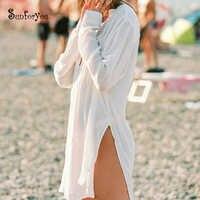 Белый Хлопковый купальный костюм, накидка, халат, Пляжная накидка, Пляжная накидка, Vestidos Praia, пляжная одежда, 2020, бикини, накидка