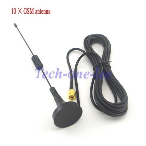 10 peças/lote gprs gsm antena 900 1800 mhz 3dbi 3m cabo sma masculino magnético base de controle remoto