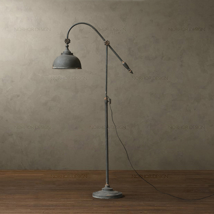 Nordic expression american country french country retro nordic expression american country french country retro mining mull vino iron floor lamp in floor lamps from lights lighting on aliexpress aloadofball Images