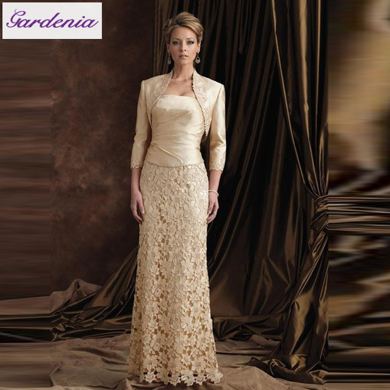 Free Jacket Sheath Strapless Floor Length Lace Plus Size Prom ...