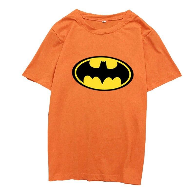 Female Tshirt 2019 T Shirt Summer Novelty Casual Cute Short Sleeve Cartoon Batman Print Women Cotton O-Neck Tops Tee Shirt Femme