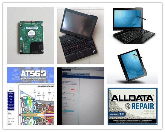 Все данные ремонт Mitchell программное обеспечение 2in1 hdd 1 ТБ установлен в x201t ноутбук 4g i7 windows 7 авто диагностический компьютер готов к использов