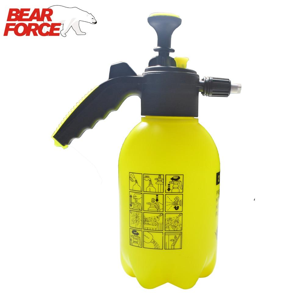 Hand Operated Snow Foam Sprayer Foam Cannon Foam Nozzle Foam Generator With 2L Bottle For Car Wash Window Cleaning