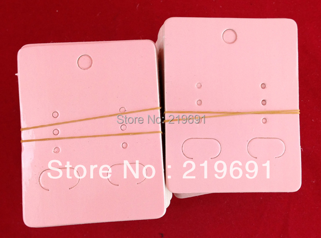Pink Cardboard Earrings Card Customize Your Own Logo Moq 1000pcs