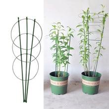 45 cm/60 cm Klimmen Wijnstok Rack Plant Ingemaakte Ondersteuning Frame Plastic Gecoat Staal Bloem Groenten Decoratieve Trellis Beugel 1 Pc