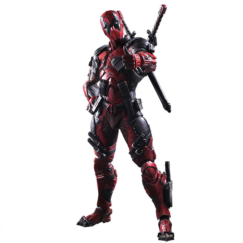 26cm Crazy Toys Deadpool Figure X-MEN Play Arts Dead Pool Deadpool PVC Action Figures Resin Collection Model Toy Gifts L1078 patrulla canina with shield brinquedos 6pcs set 6cm patrulha canina patrol puppy dog pvc action figures juguetes kids hot toys