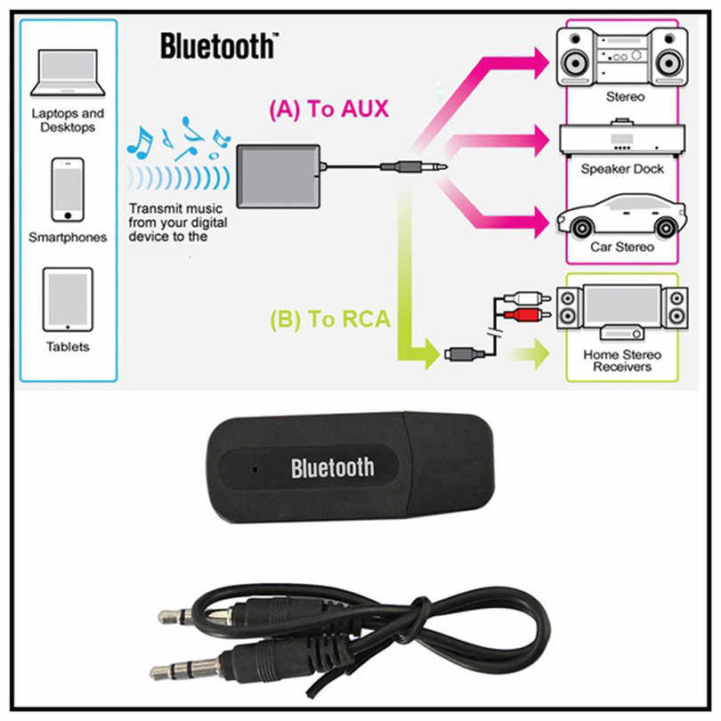 USB Bluetooth オーディオ音楽受信機 3.5 ミリメートルワイヤレス Bluetooth 2.1 + EDR USB AUX オーディオ音楽受信機アダプタ # F30NT08