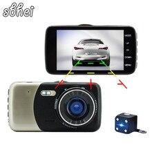 Dash Cam Cámara Del Coche DVR Hd 1080 P Lente Dual Video Recorder visión Nocturna Monitor de Estacionamiento Automático de Movimiento de la Cámara detección