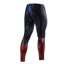 ZRCE New High Quality  Men Skinny Pants 3D Pattern Superman Iron Man Flash Bodybuilding Jogger  Fitness Skinny Leggings Trousers