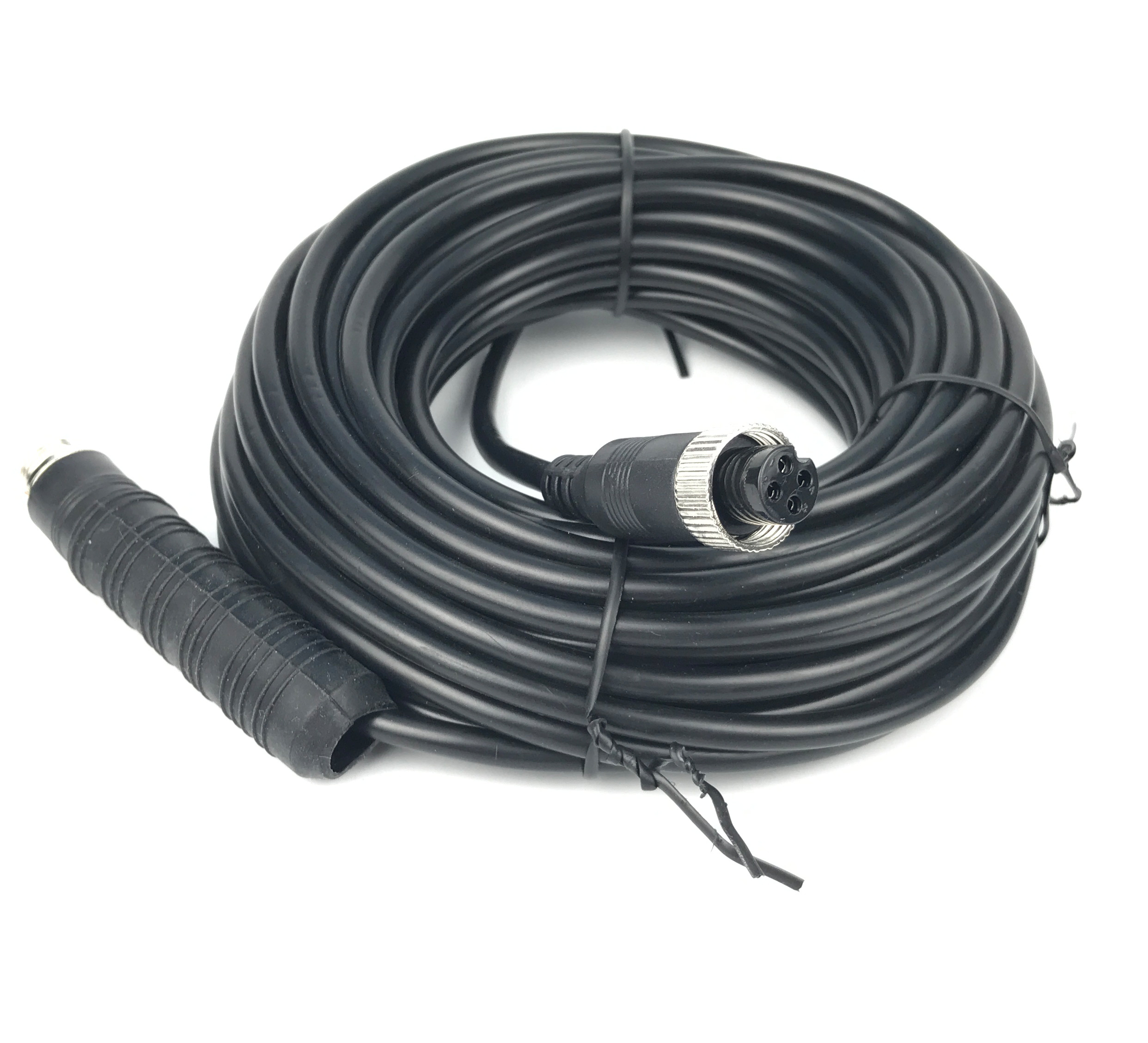 Uvusee 15Meters Car 4-Pin Aviation Video Extension Cable For CCTV Rearview Camera Truck Bus Boat  Vehicle Backup Monitor