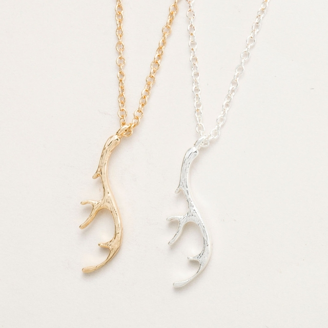 1pc fashion deer antler pendant necklaces for women simple long 1pc fashion deer antler pendant necklaces for women simple long chain vintage cute animal unicorn necklace aloadofball Gallery