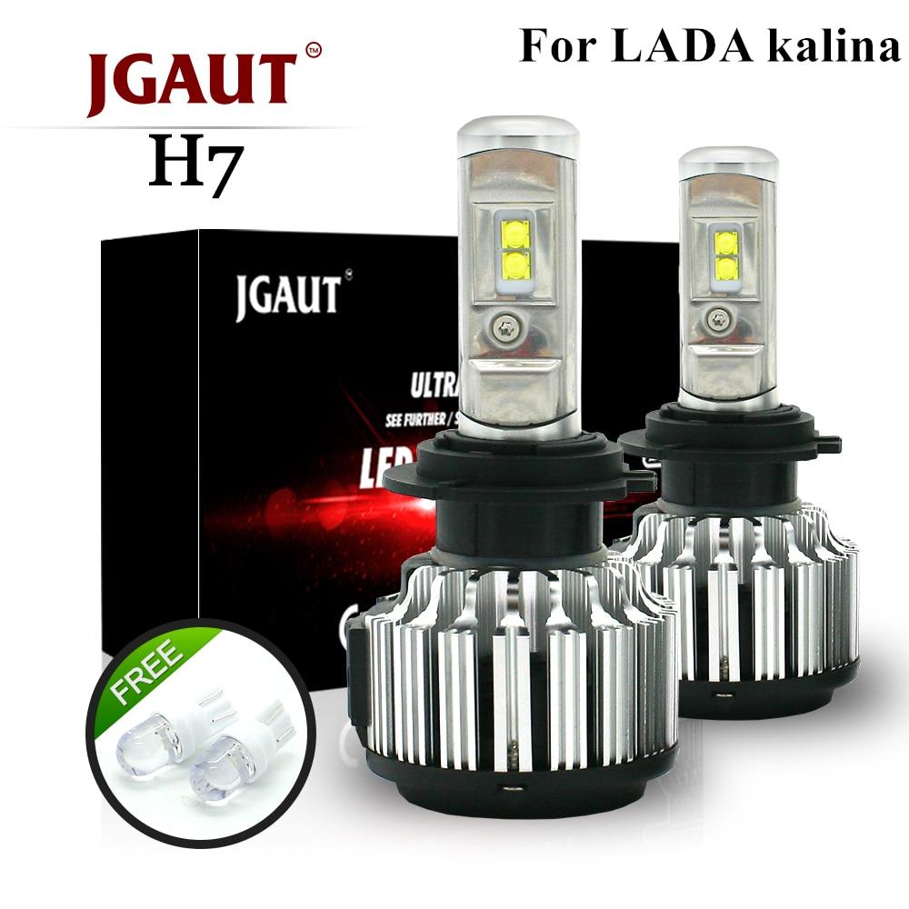 JGAUT For LADA kalina Car Led Headlight H1 High Beam Headlights kit H7 Low Beam 12v Front led Bulbs H11 fog lamp 6000k 1pair car h1 60w eti 2s car led headlight kit 8000lm hid 6000k white high or low beam bulbs