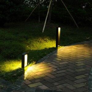 DONWEI светодиодный светильник для газона Bollard для ландшафтного сада, двора, квадратный наружный светильник ing 60 см светодиодный декоративный ...