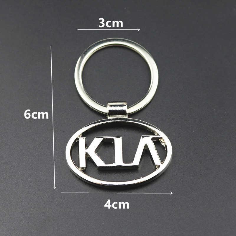 3D металлический автомобильный брелок для ключей, автомобильный держатель для ключей, аксессуары для Kia Rio, K2, K3, K5, Sorento, Sportage, автомобильный брелок, подвеска