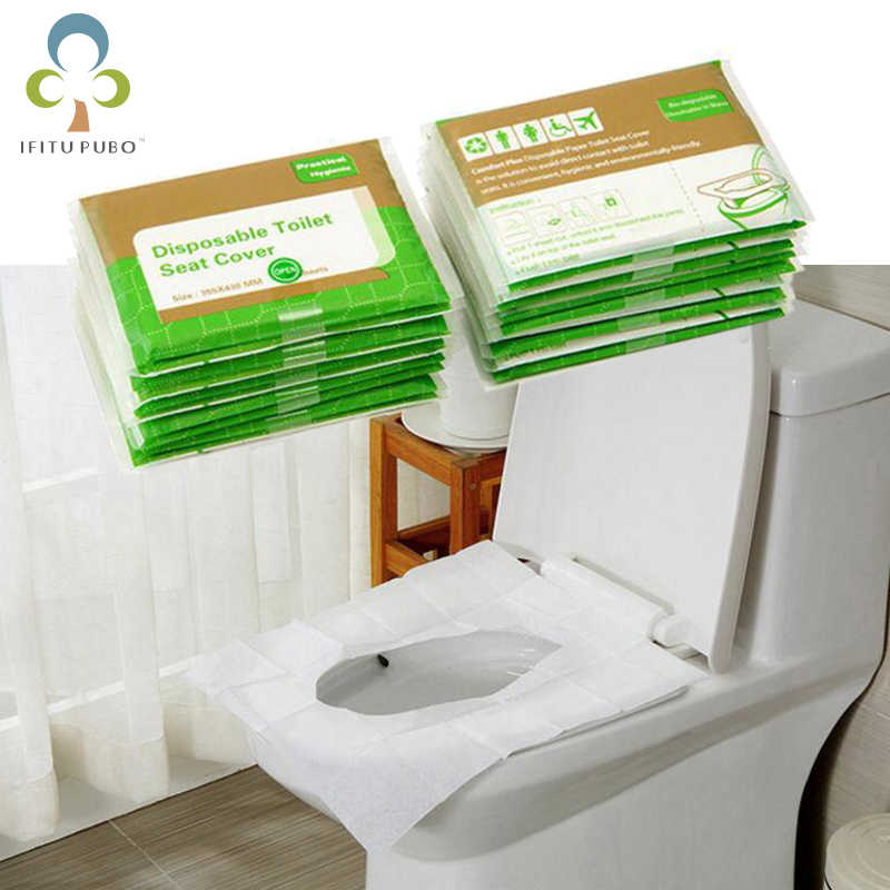 Disposable Paper Toilet Seat Cover For Camping Travel Sanitary 1 Pack//10pcs