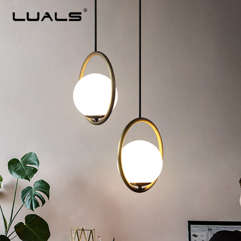 Fashion Indoor Lighting Modern LED Pendant Lamp Iron Ring Suspension Luminaire New Light Fixture Home Art Deco Hanging Lights 2016 new luminaire lamparas pendant lights modern fashion crystal lamp restaurant brief decorative lighting pendant lamps 8869