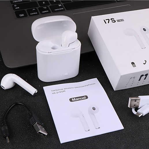 I7s СПЦ Беспроводной наушники-вкладыши Bluetooth бинауральные наушники гарнитура с загрузочной коробки микрофон все Bluetooth планшет для Iphone HUAWE