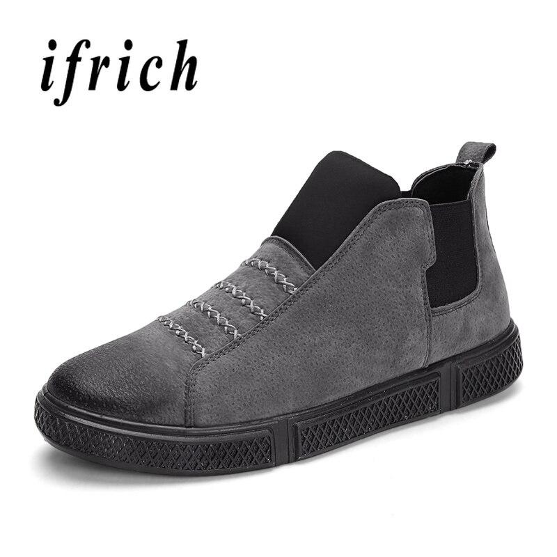 Haute Confortable Black on gray Pour Noir Slip forme Plate Gris De Rétro Non Mode Hommes Top Chaussures Marche Slip Hvxq0TOgw