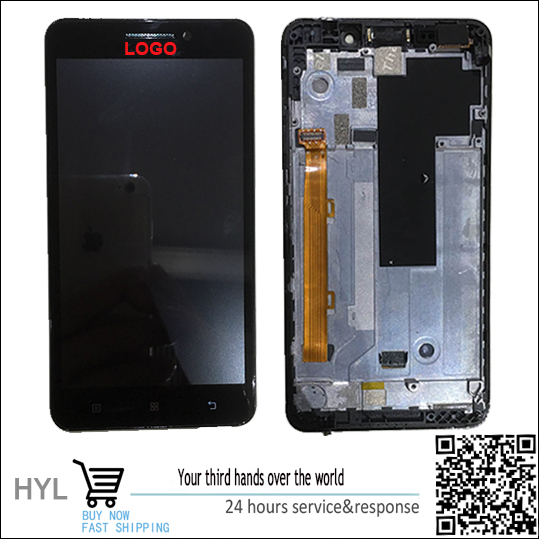 ФОТО Original Touch screen digitizer+LCD display For lenovo A5000 with frame fast shipping tracking number in stock!Test ok!