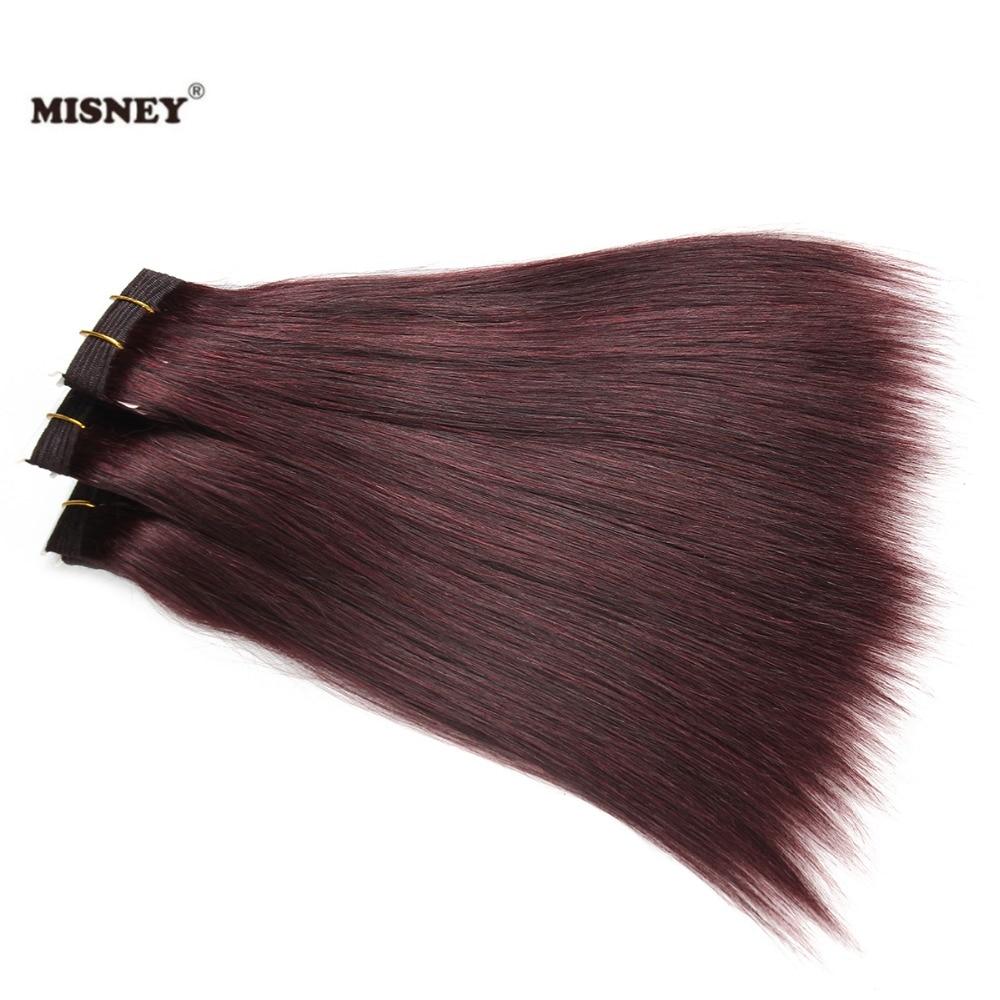 Yaki Hair Extension 3 Bundle Color 99J 100% Human Hair Yaky Weaving Bundles 100g/pc China Factory Healthy Hair Yaki Straight WVG
