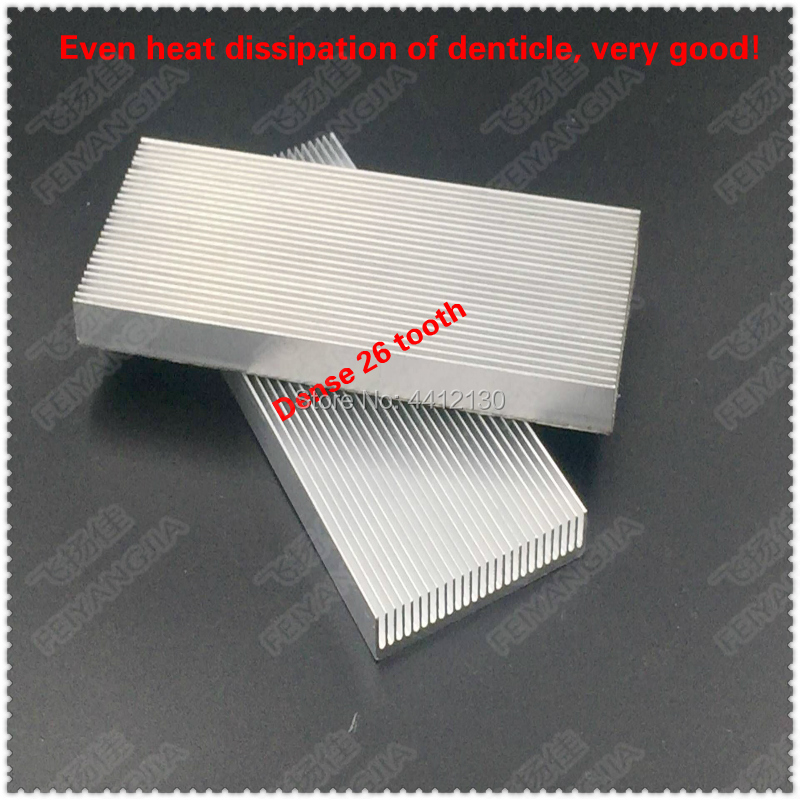 Купить с кэшбэком 1 PCS  100x41x8mm Aluminum Radiator Heat Sink Heatsink for Computer LED Amplifier IC Transistor Computer Memory   Heatsink