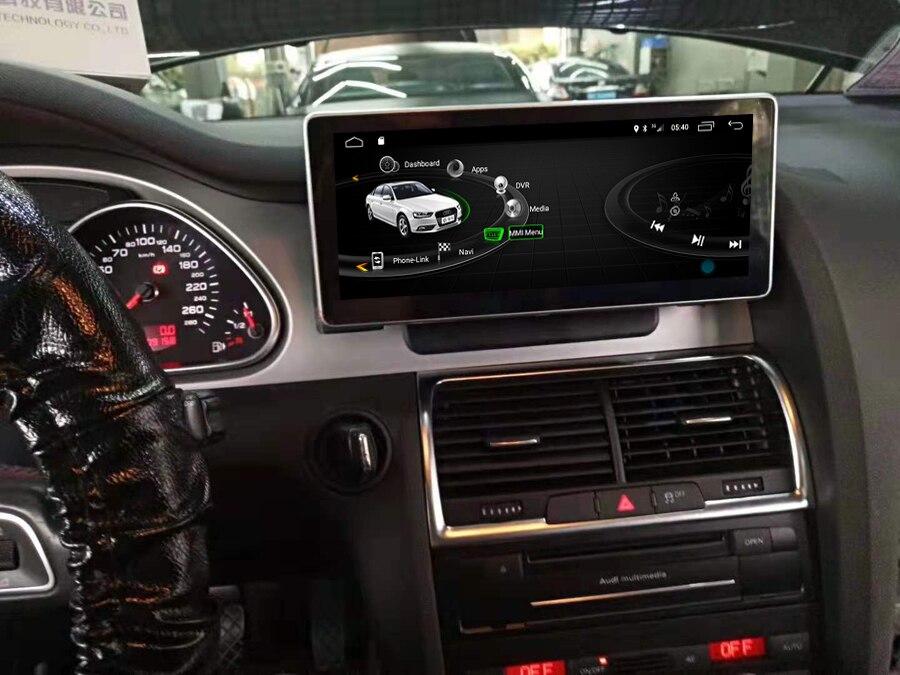 Navirider 8 core Android 8.0 lecteur gps de voiture pour Audi Q7 2005-2010 bluetooth radio écran tactile stéréo tête unités magnétophone