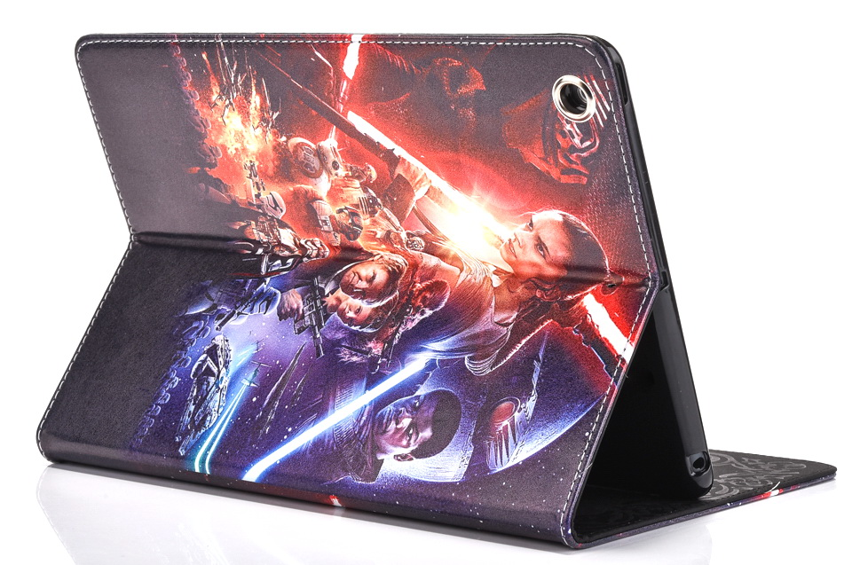 New Fashion Movie star wars Cartoon pu leather Stand holder case cover for ipad 2 for ipad 3 ipad 4 case