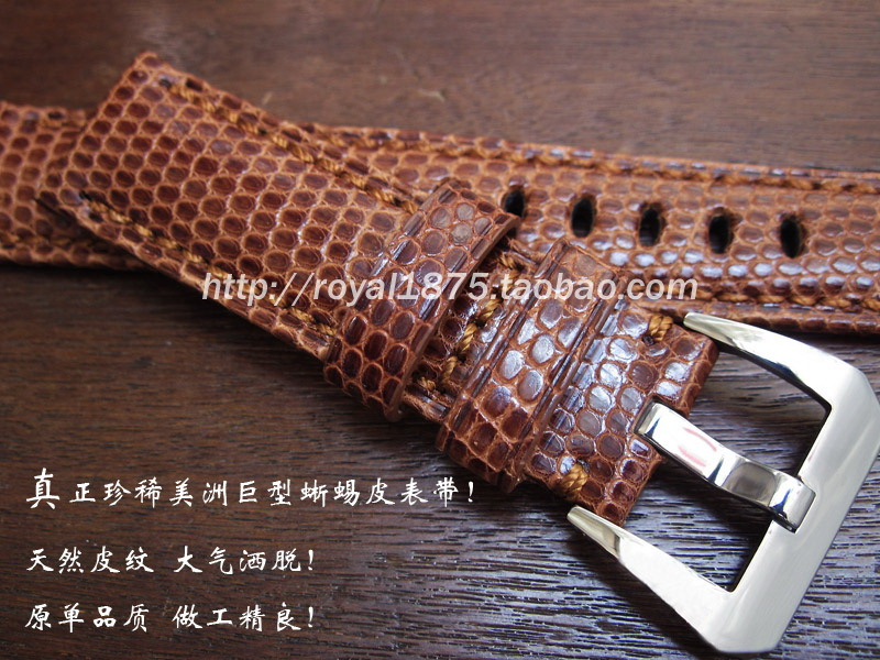 High quality butterfly buckle watchband Handmade genuine lizard leather strap 22mm black brown leather straps все цены