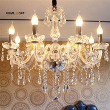 Cheap crystal chandelier home lighting lustres de cristal E14 bulb light fixtures Chandelier and Pendant Living
