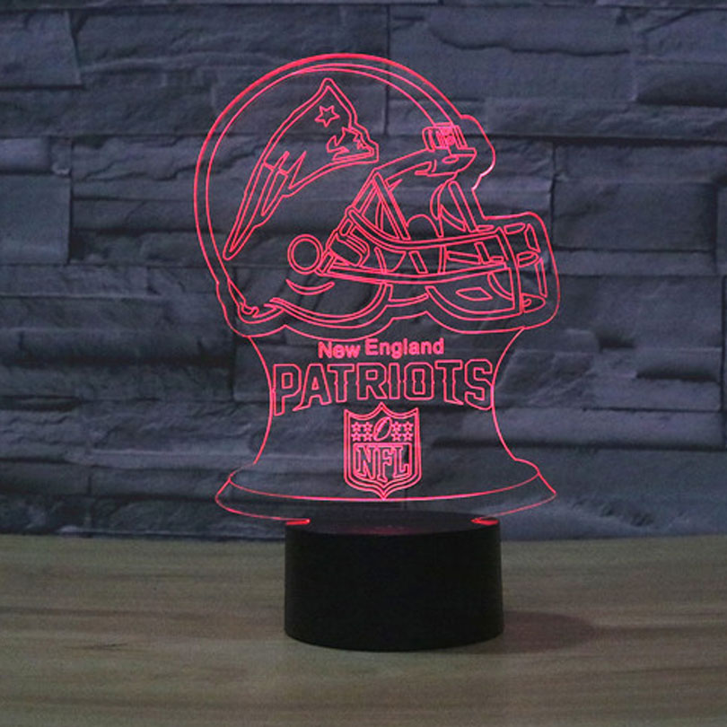 New England Patriots Logo 3D Night Lamp 7 Colors Gradual