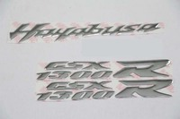 KODASKIN Motorcycle Emblem Sticker Decal Emblem Raise 3D for GSXR 1300 GSX1300R silver color