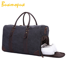 CHARA'S brand Travel bag men/women canvas Shoe bag Multi-functional large capacity Carry On Luggage Bags Duffel Canvas Handbag сумка revolution duffel bag multi